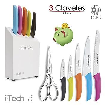 3 Claveles 1629 - Juego I-Tech de 5 Cuchillos Profesionales ...
