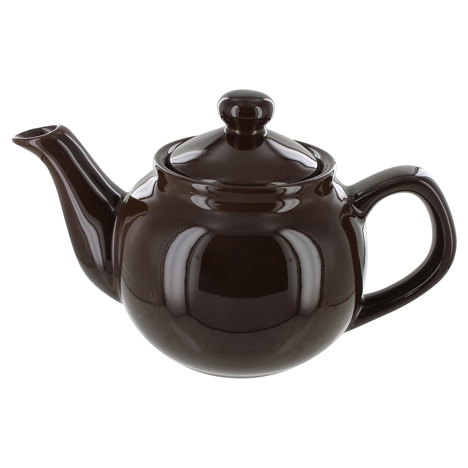 English Tea Store Brand 2 Cup Teapot - Brown Gloss Finish Online Stores Inc. AMS2C-Black