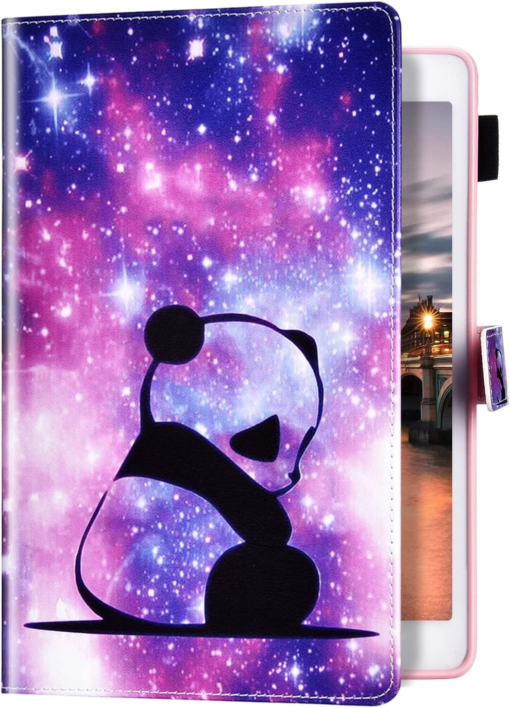 MoreChioce compatible avec Coque Samsung Galaxy Tab A 10.5,Coque Galaxy Tab A 10.5 T590//T595 Housse de Protection,Jolie motif Mandala Smart Cover Stand Flip Tablette Case Portefeuille
