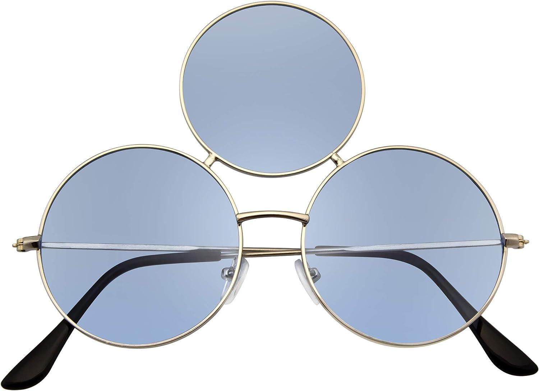 Emblem Eyewear - Gafas de Sol de Tercer Ojo Gafas de Sol de Círculo Redondo Triple (Azul): Amazon.es: Ropa y accesorios