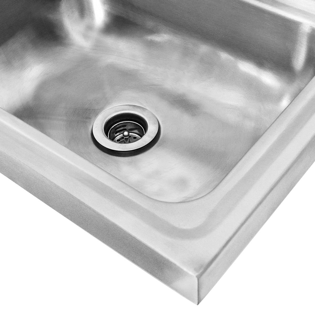 Giantex Stainless Steel Hand Wash Sink Wall Mount Commercial Kitchen Heavy Duty With Faucet by Giantex (Image #4)