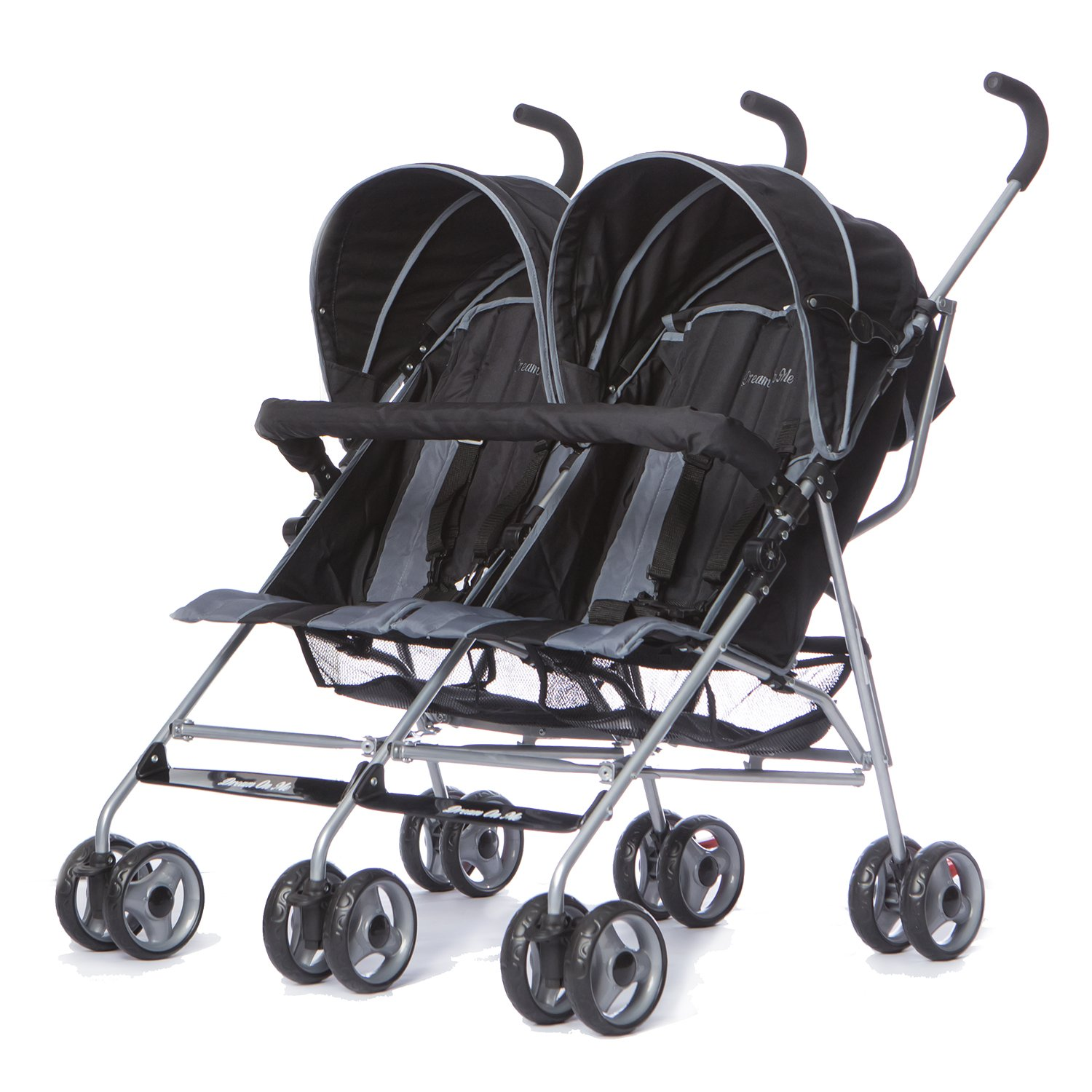 Dream On Me Double Twin Stroller Red