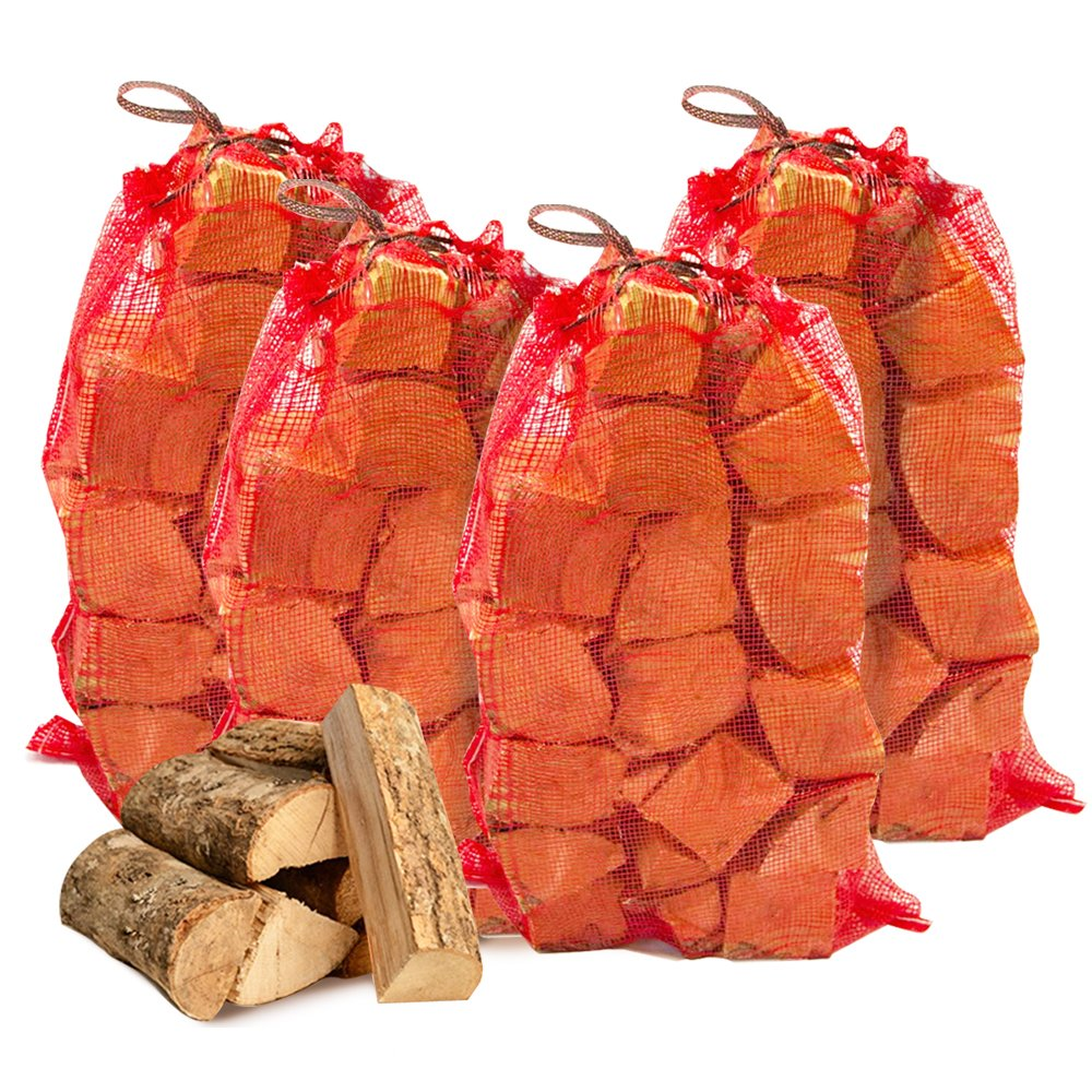 150KG of THE CHEMICAL HUT® Quality Seasoned Dried Softwood Logs for Firewood, Pits, Open Fire & Stoves. - Comes with THE LOG HUT® Woven Sack.