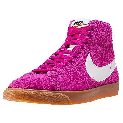 Nike Wmns Blazer Mid Suede Vintage Schuhe Damen Echtleder-Sneaker Mid Top Pink 518171 614
