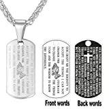 Amazon Price History for:U7 Gold Necklace Men Thin Stainless Steel Chain 18K Gold Plated Bible Verse Praying Hands Cross & Dog Tag Pendant