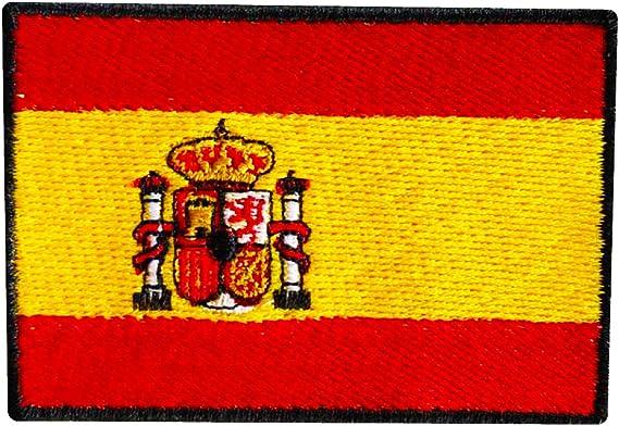 Bandera de ESPAÑA PARCHE BORDADO AUTOADHESIVO: Amazon.es: Hogar