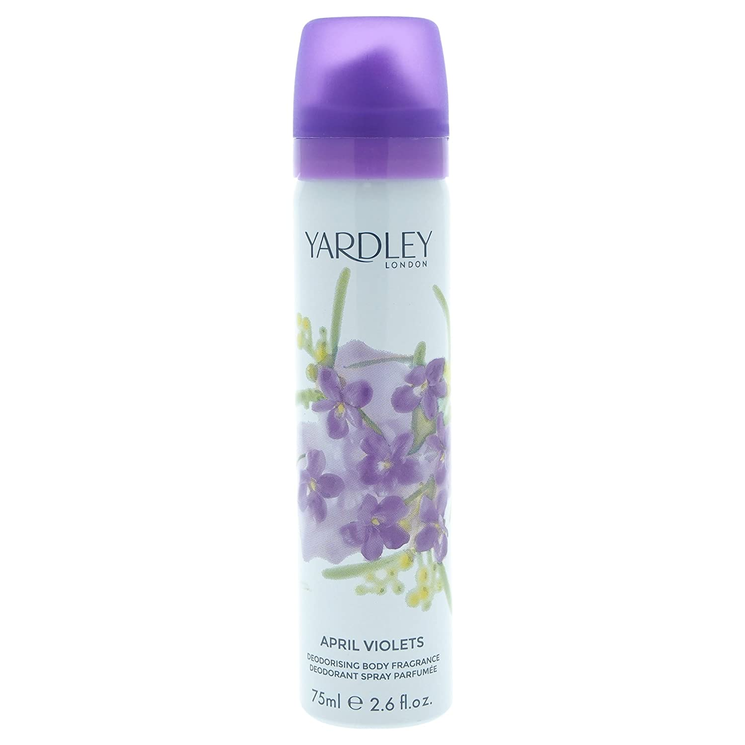 Yardley London April Violets for Women Deodorant Body Spray, 2.6 Ounce Y9200022-6