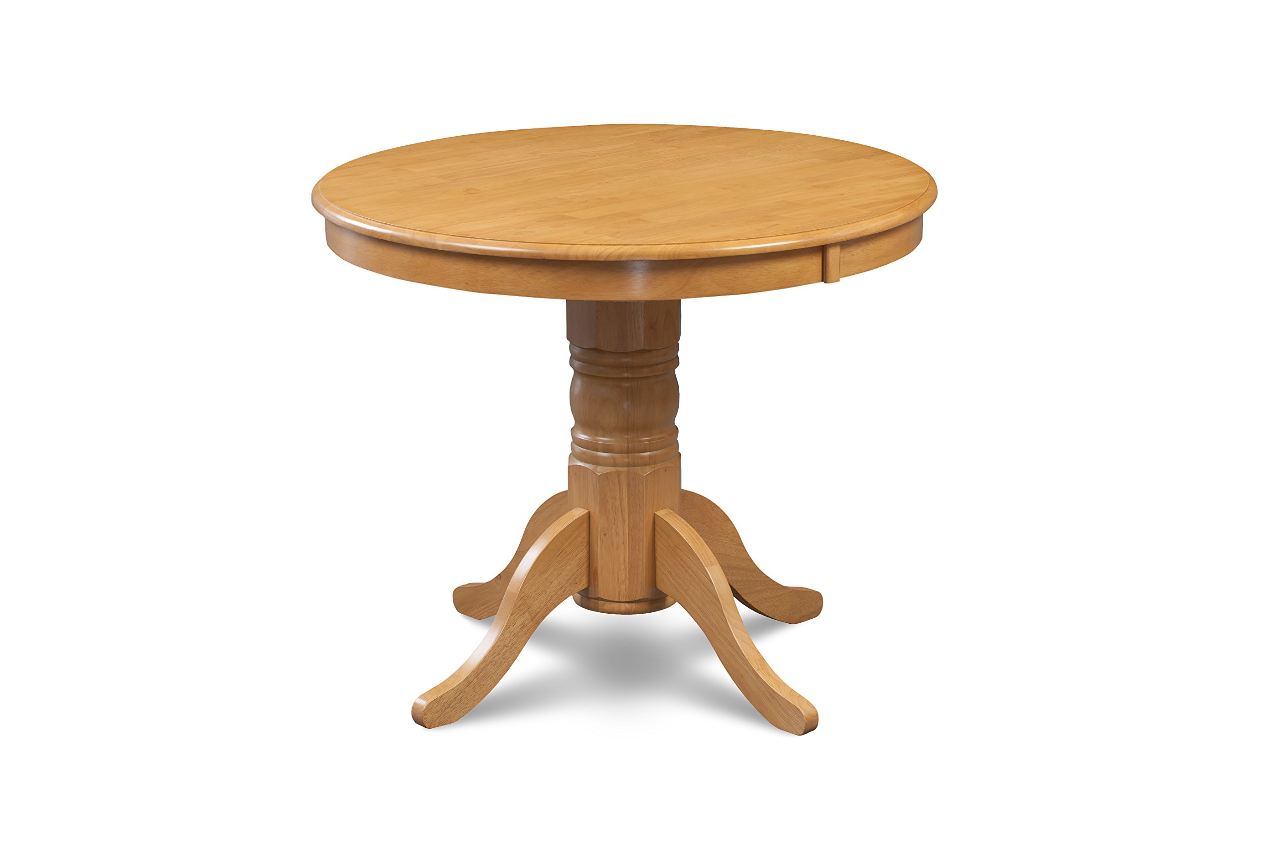 Trithi Furniture Antville Round Dining Table in Oak Finish