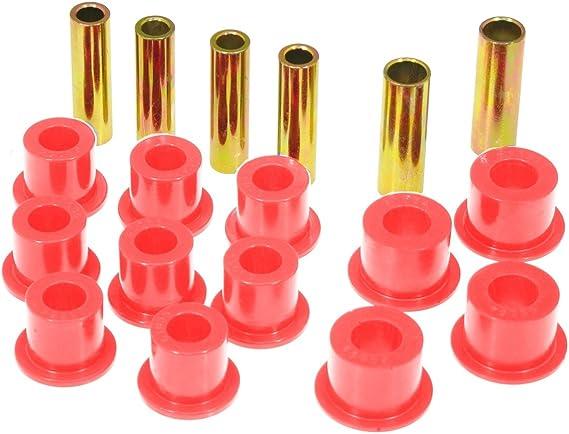 Prothane 6-1020 Red Rear Spring Eye and Shackle Bushing Kit