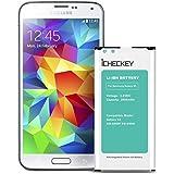 ICHECKEY 2800mAh Externer Akku für Samsung Galaxy S5 Li-Ion Batterie EB-B900BE Ersatzakku G900F Battery ohne NFC