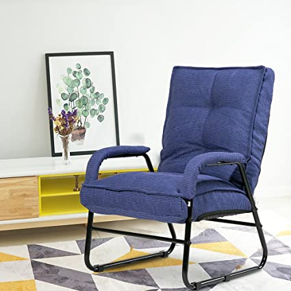 Harper bright designs floor sofa chair adjustable folding chaise lounge video gaming chair blue