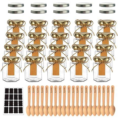 Amazon.com: Syntic - Juego de 20 tarros hexagonales de ...