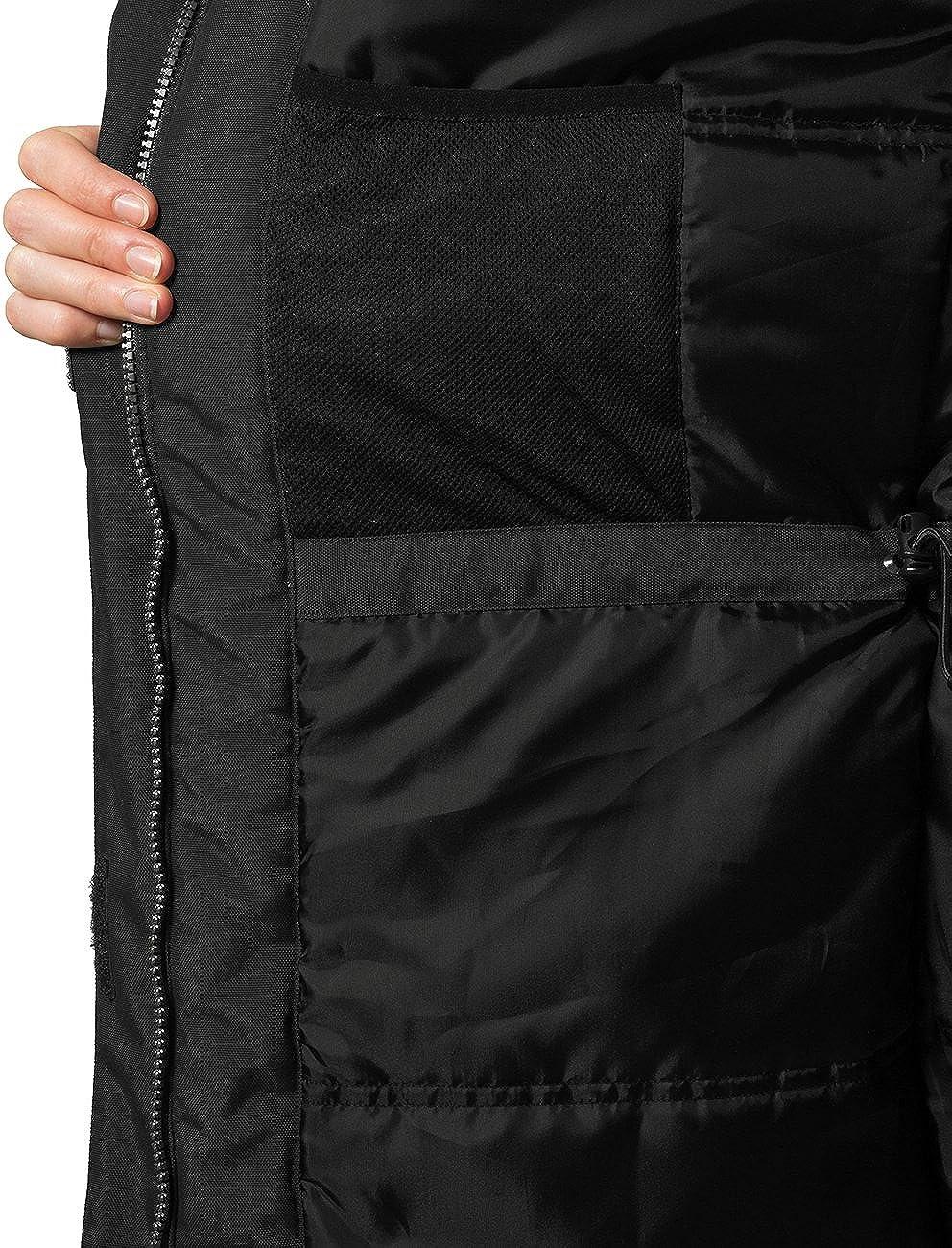 Ultrasport Advanced Damen Outdoor Parka Luca abnehmbare verstellbare Kapuze mit Kunstfell innenliegende Kordel zur Weitenregulierung Winterjacke wasserdicht und nahtverschwei/ßt Ultraflow 3.000