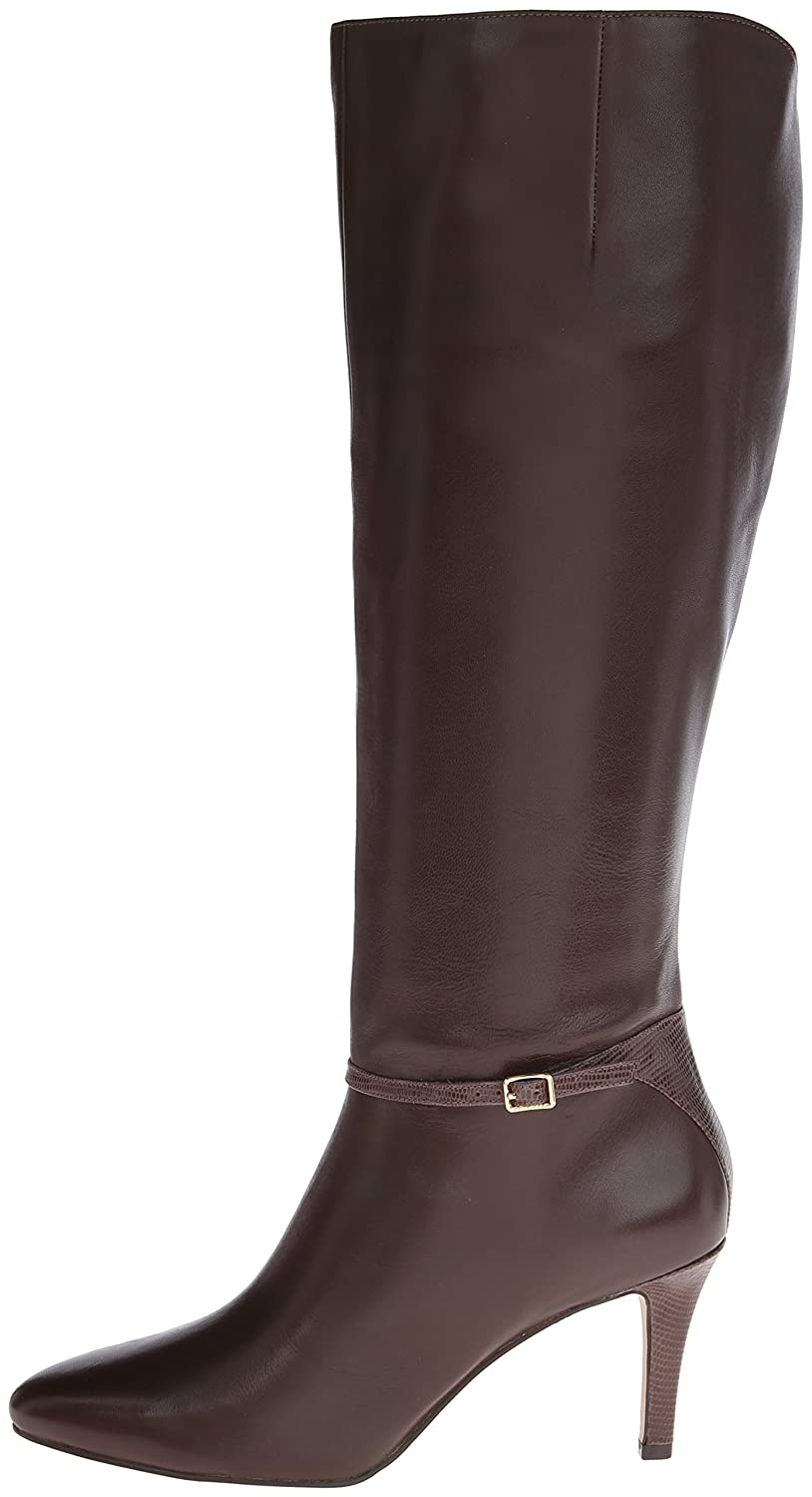 Amazon.com | Cole Haan Women's Garner Boot (wide calf), Chestnut, 8 B US |  Knee-High