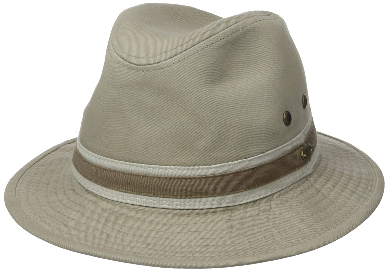 a9452c31 Stetson Men's Durango Safari Cloth Hat, Khaki, Medium at Amazon Men's  Clothing store: Fedoras