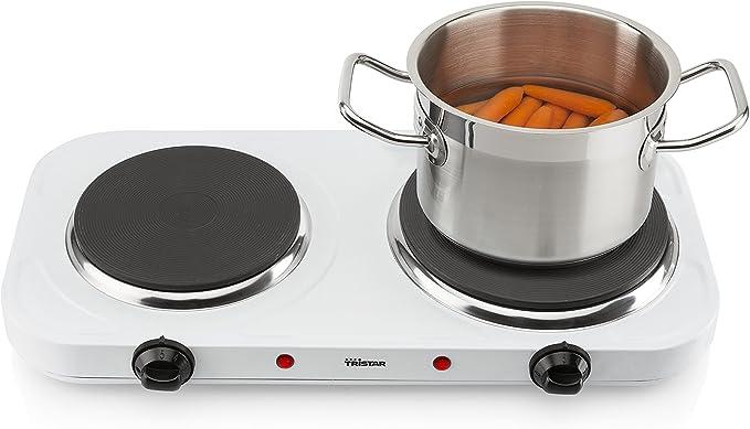 Tristar KP-6245 Placa de cocción, 2500 W, Acero Inoxidable, Blanco: Amazon.es: Grandes electrodomésticos