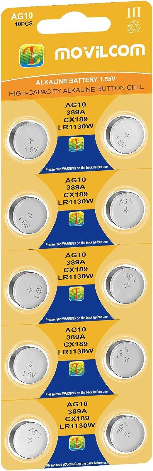 Movilcom Knopfzelle Ag10 Uhrenbatterien 1 5 V Elektronik