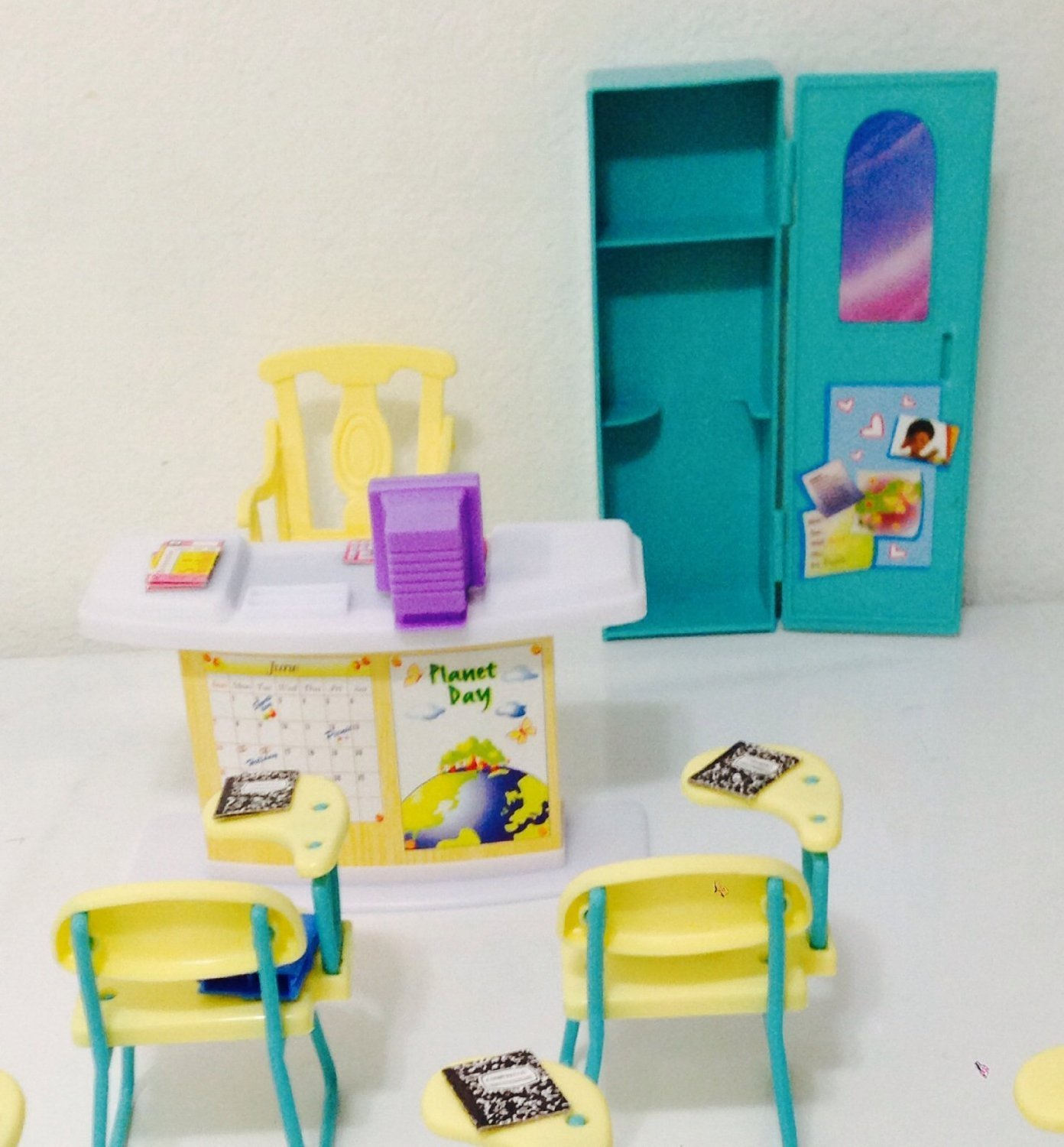 amazoncom barbie size dollhouse furniture classroom play set toys games barbie doll house furniture sets