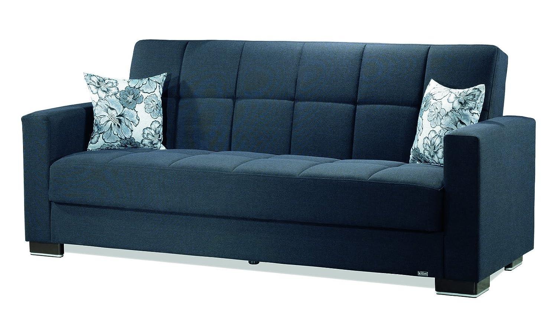 Amazon.com: Casamode Armada Sofa Denim Dark Blue Chenille ...