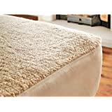 Dreams Gate Luxury Fleece Underblanket Deep Fitted Mattress Protector Bed Cover Thick Fleece Sheet (King)