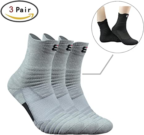 Mens Cotton Cycling Socks Gym Fitness Breathable Quick Dry Footwear Accessories