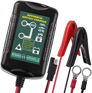 Amazon.com: Cargador de batería de 6 V 12 V 1,5 A, cargador ...