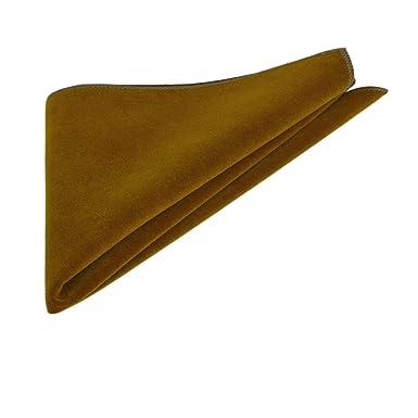 Luxury Tawny Brown Velvet Pocket Square