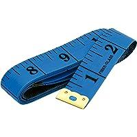 U-horizon 60 Inch 150cm Soft Tape Measure for Sewing Tailor Flexible Cloth Ruler Body Size Measurement, Blue