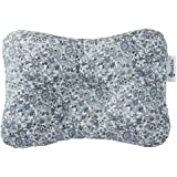 W WelLifes Baby Pillow for Newborn Breathable 3D Air Mesh Organic Cotton, Protection for Flat Head Syndrome Floral Blue