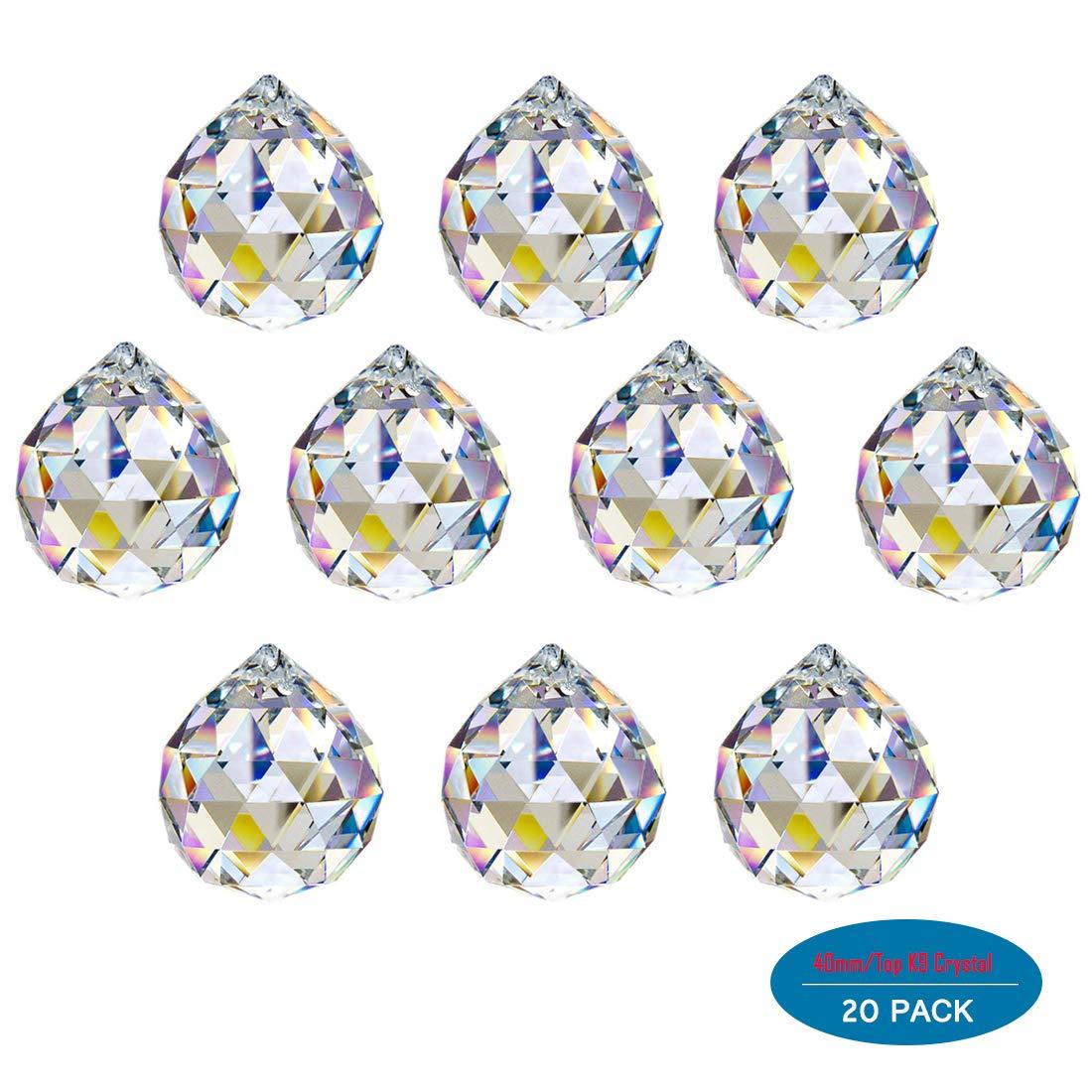 Amazon.com: H & D facetas de 10pcs 30 mm Bola de vidrio ...