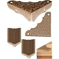 FUXXER® - 20 esquinas de muebles antiguos, herrajes, protectores de esquinas, protección de bordes para cajas, muebles…