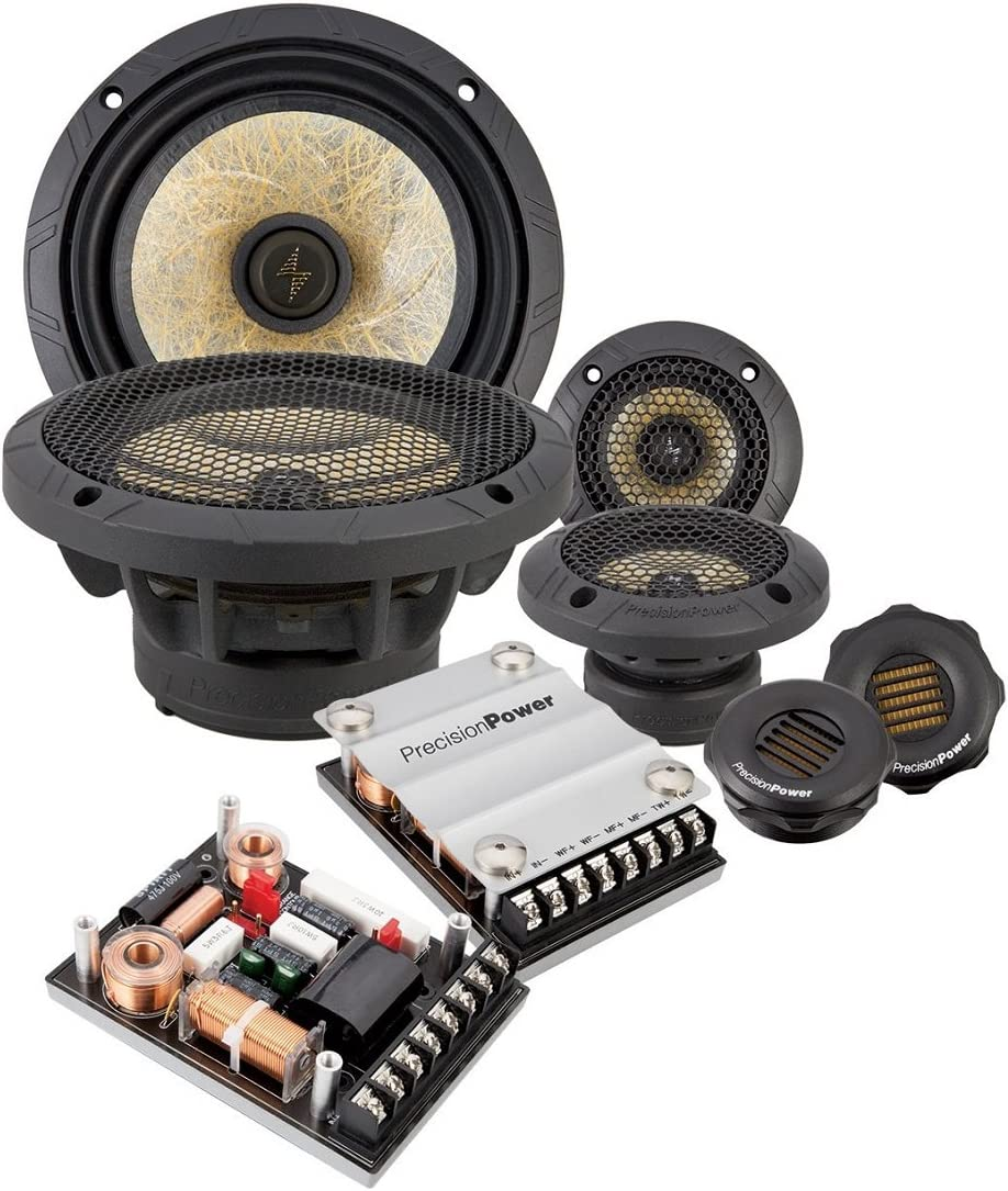Amazon Com Precision Power P 65c3 6 5 3 Way Power Class Series Component Car Audio Speaker System Car Electronics