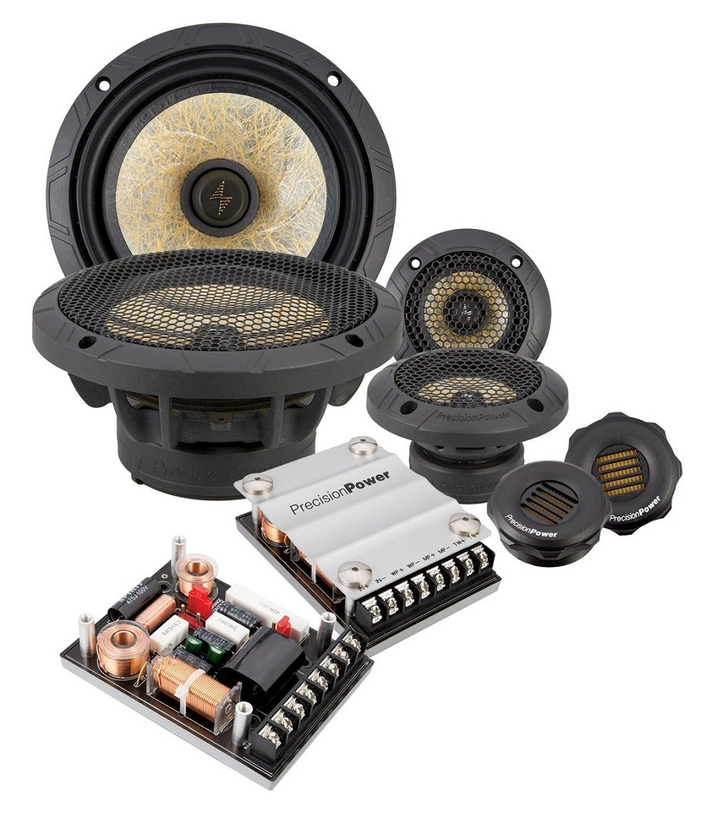 Precision Power P.65C3 6.5'' 3-Way Power Class Series Component Car Audio Speaker System
