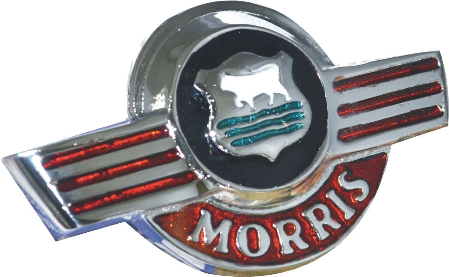 Alloy Chrome Plated Morris Minor Script Rear Boot Badge Emblem