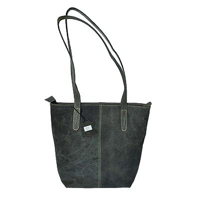 e75153ecf710c Echt Leder Shopper Tasche Handtasche 5 Farben Vintage Schultertasche Neu -  MU202 - Schwarz Vintage BH