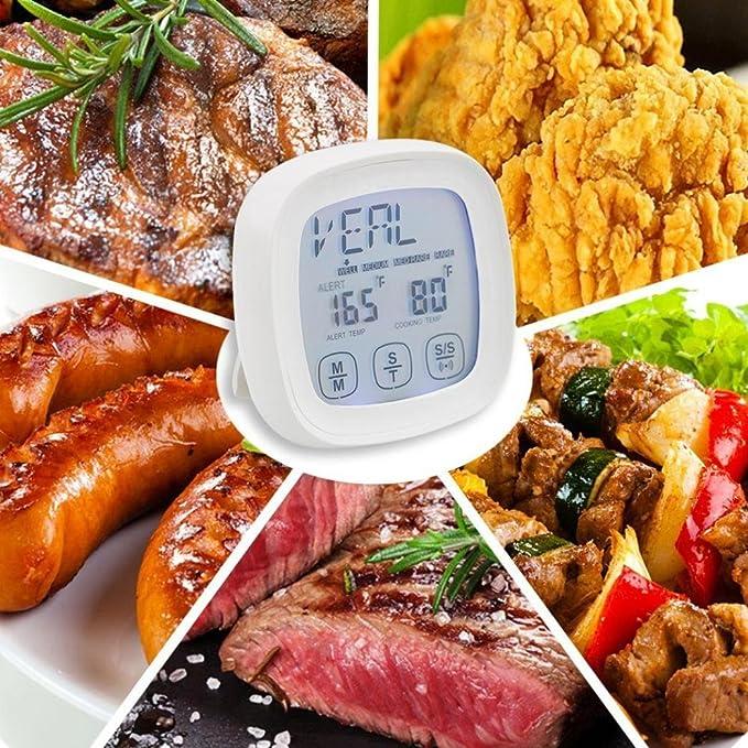 yjydada pantalla táctil digital termómetro de cocina termómetro de ...
