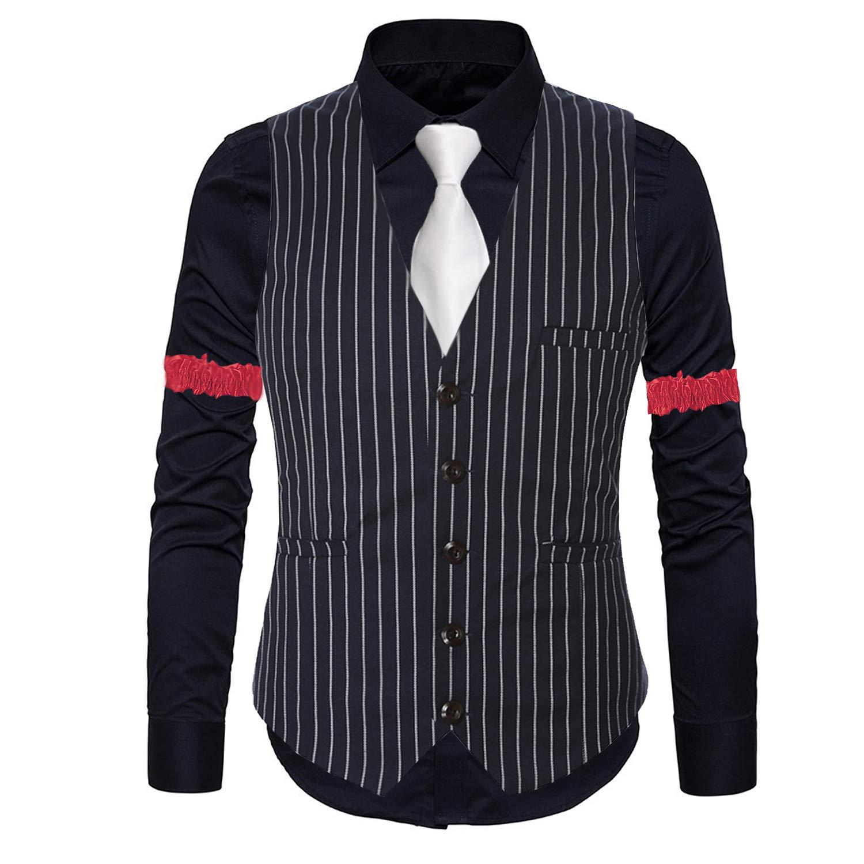 1920s Mens Gatsby Flapper Stripe Vest,Gangster Dress Suit Shirt /& Armbands,Toy Fake Cigar,Tie,Pre-Tie