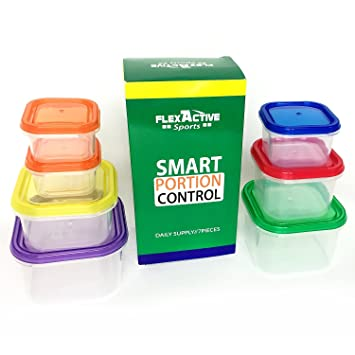 Portion Control Containers (5pcs) Meal Prep and Food Storage System for Diet and Nutrition  sc 1 st  Amazon.com & Amazon.com: Portion Control Containers (5pcs) Meal Prep and Food ...