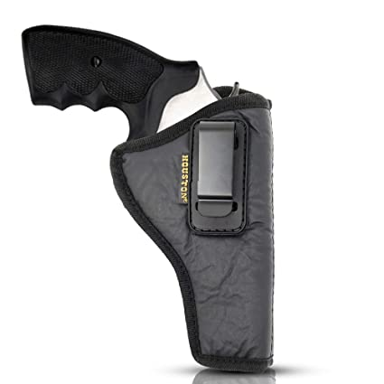 iwb revolver holster by houston - eco leather concealed carry soft | suede  interior for maximum protection | fits: revolvers k, l, m & n frames |  taurus