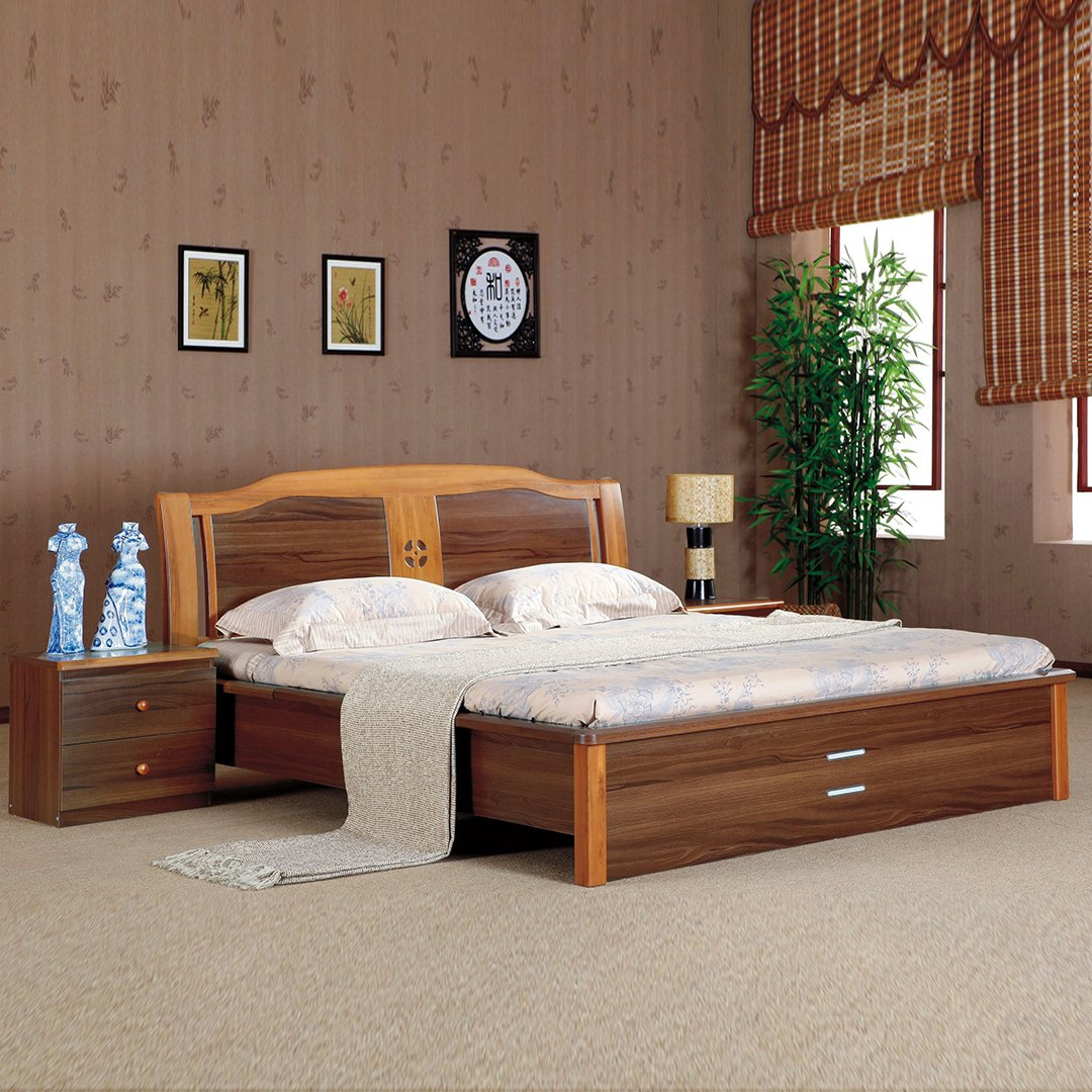 Royaloak Daisy Queen Size Bed With Storage Honey Brown Amazonin
