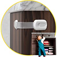 Child Safety Cabinet Locks for Babies (14 Pack) Child Proof Latches Locks for Cabinets and Drawers Doors, Baby Proofing…