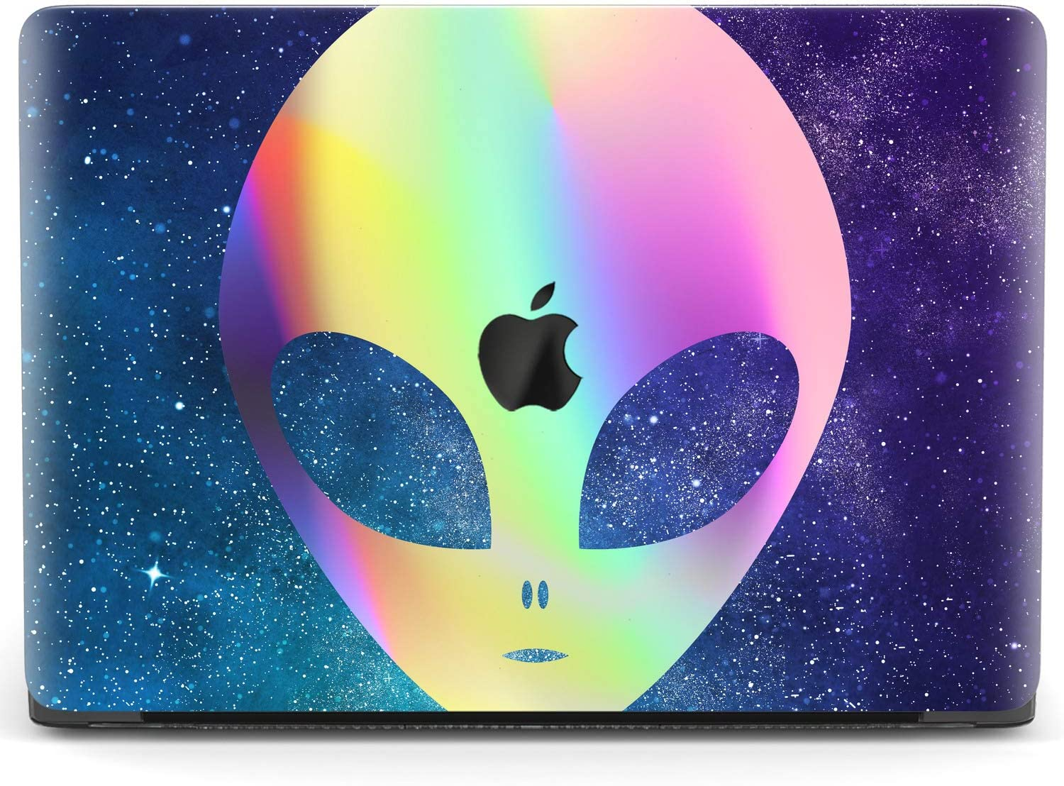 Mertak Hard Case for Apple MacBook Pro 16 Air 13 inch Mac 15 Retina 12 11 2020 2019 2018 2017 Design Night Sky Alien Funny Laptop Protective Touch Bar Cute Plastic Cover Rainbow Print UFO Clear