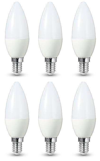 164 opinioni per AmazonBasics- Lampadina LED E14, 5,5 W a 40 W, 470 lumen, non dimmerabile,