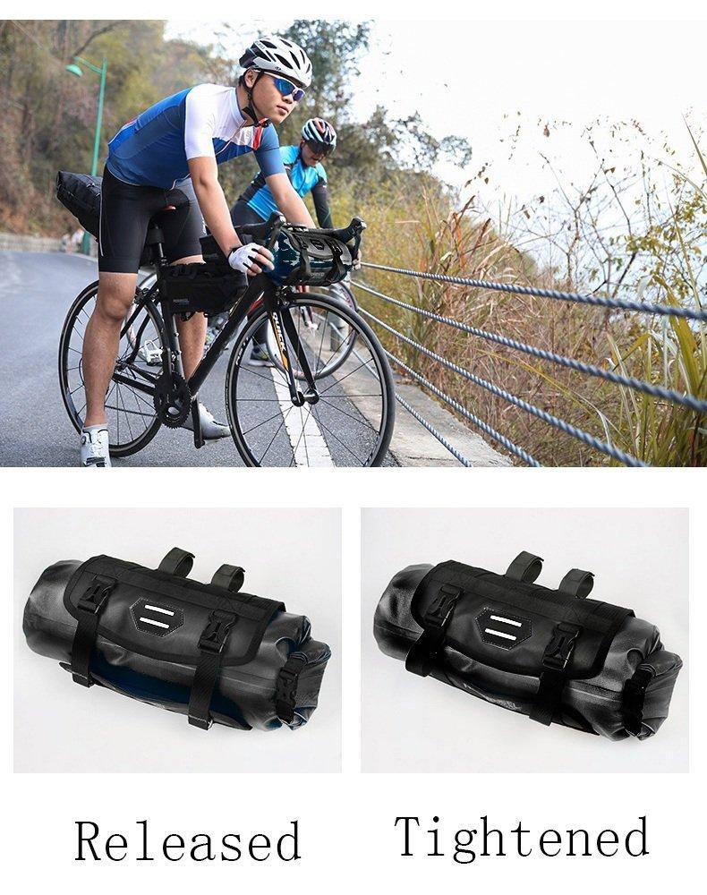 kangOnline Cesta impermeable impermeable para bicicleta con cubierta delantera para manillar de bicicleta