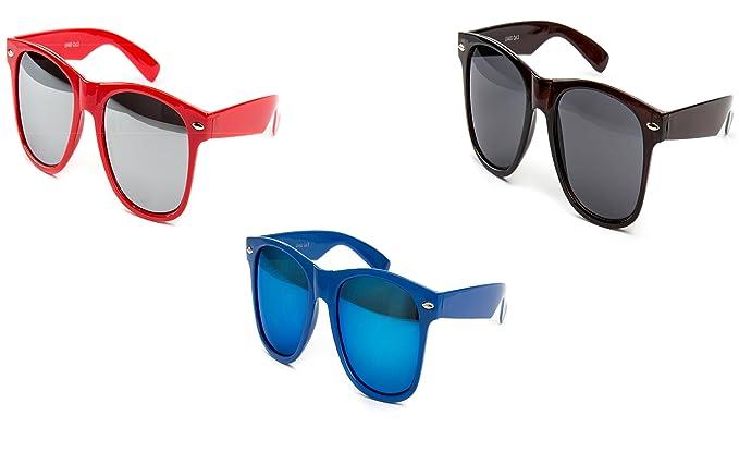 2 er Set Nerd Sonnenbrille Festival Partybrille Stil Atzen Brille Feuer Rot Schwarz Weiß yJ7Kyqv