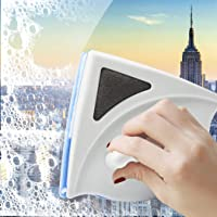 Magnetic Window Double Side Glass Wiper Cleaner Surface Cleaning Brush Car Tool