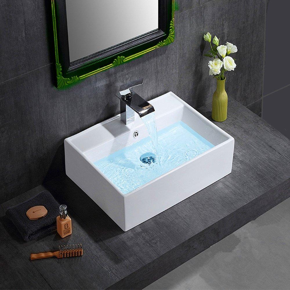 8013 Modern Round Ceramic Cloakroom Basin Bowl Countertop Bathroom Sink by panana