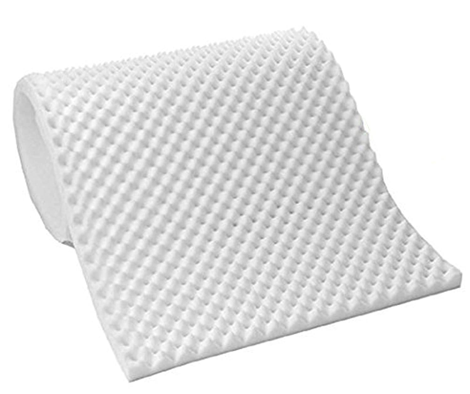 Vaunn Medical Premium White Egg Crate Convoluted Foam Mattress Pad Topper Hospital Bed Twin Size