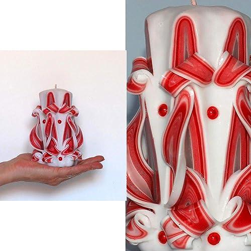 Cadeau Original Amour Avec Une Petite Bougie Decorative Rouge Et