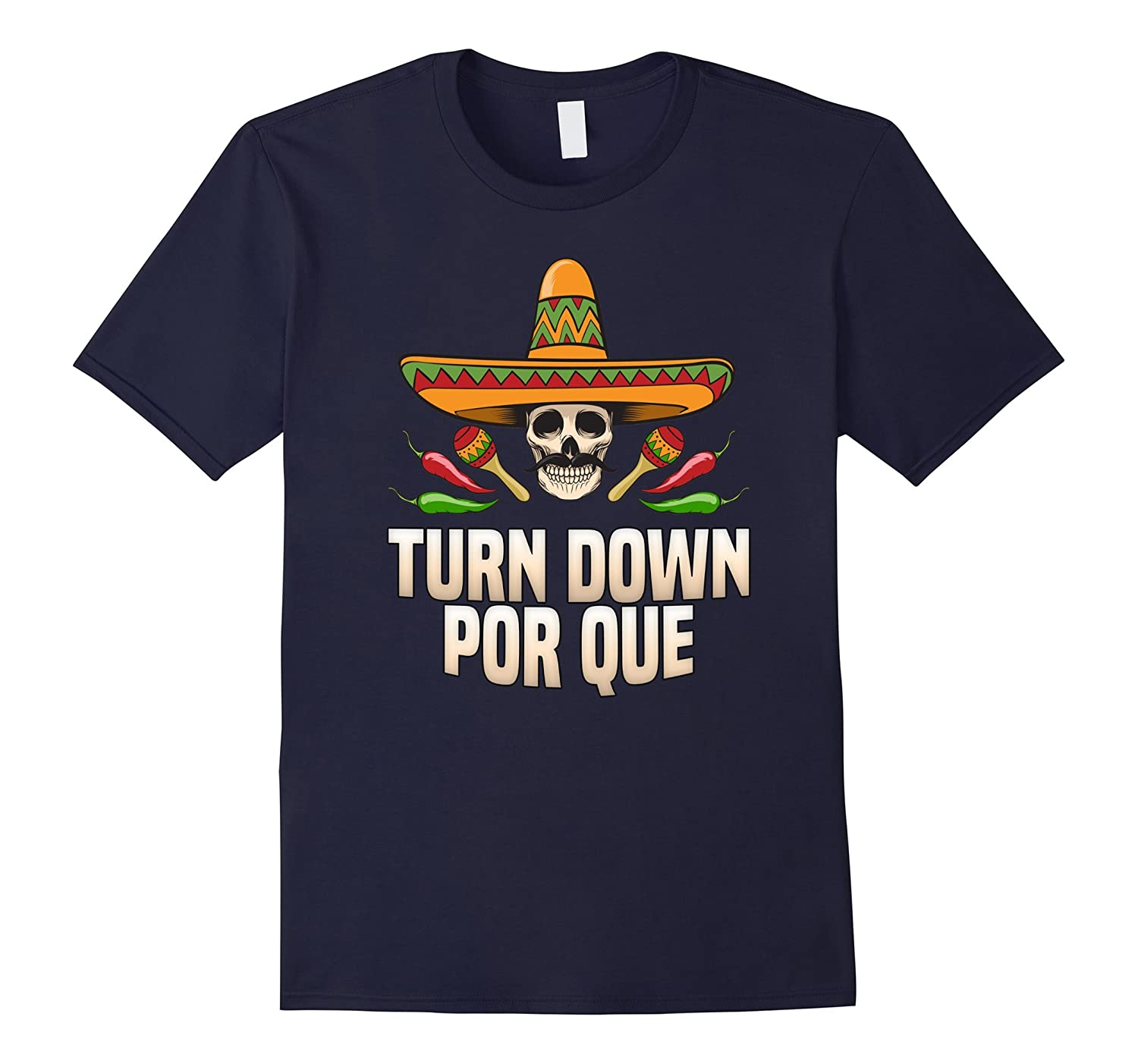 Sombrero Skull Turn Down Por Que for Cinco De Mayo Party-CD
